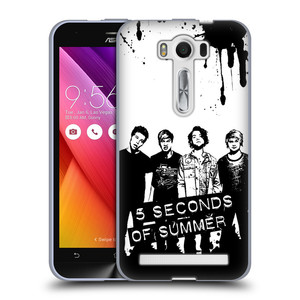 Silikonové pouzdro na mobil Asus ZenFone 2 Laser ZE500KL HEAD CASE 5 Seconds of Summer - Band Black and White