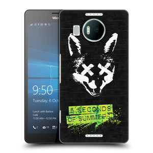 Plastové pouzdro na mobil Microsoft Lumia 950 XL HEAD CASE 5 Seconds of Summer - Fox