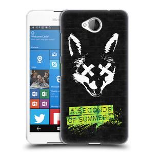 Plastové pouzdro na mobil Microsoft Lumia 650 HEAD CASE 5 Seconds of Summer - Fox