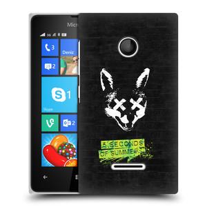 Plastové pouzdro na mobil Microsoft Lumia 435 HEAD CASE 5 Seconds of Summer - Fox