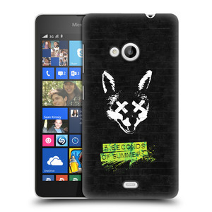 Plastové pouzdro na mobil Microsoft Lumia 535 HEAD CASE 5 Seconds of Summer - Fox