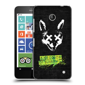 Plastové pouzdro na mobil Nokia Lumia 630 HEAD CASE 5 Seconds of Summer - Fox
