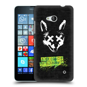 Plastové pouzdro na mobil Microsoft Lumia 640 HEAD CASE 5 Seconds of Summer - Fox