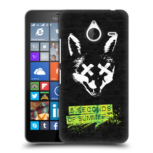 Plastové pouzdro na mobil Microsoft Lumia 640 XL HEAD CASE 5 Seconds of Summer - Fox