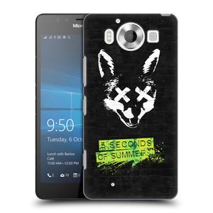 Plastové pouzdro na mobil Microsoft Lumia 950 HEAD CASE 5 Seconds of Summer - Fox