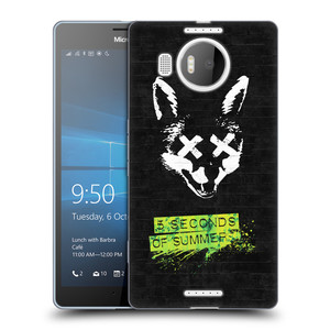 Silikonové pouzdro na mobil Microsoft Lumia 950 XL HEAD CASE 5 Seconds of Summer - Fox