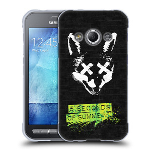Silikonové pouzdro na mobil Samsung Galaxy Xcover 3 HEAD CASE 5 Seconds of Summer - Fox