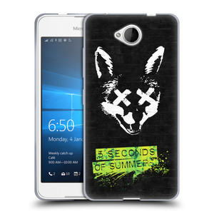 Silikonové pouzdro na mobil Microsoft Lumia 650 HEAD CASE 5 Seconds of Summer - Fox