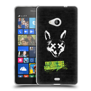 Silikonové pouzdro na mobil Microsoft Lumia 535 HEAD CASE 5 Seconds of Summer - Fox