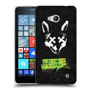 Silikonové pouzdro na mobil Microsoft Lumia 640 HEAD CASE 5 Seconds of Summer - Fox