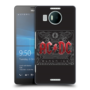 Plastové pouzdro na mobil Microsoft Lumia 950 XL HEAD CASE AC/DC Black Ice