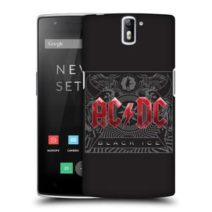 Plastové pouzdro na mobil OnePlus One HEAD CASE AC/DC Black Ice