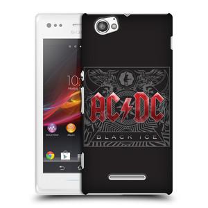 Plastové pouzdro na mobil Sony Xperia M C1905 HEAD CASE AC/DC Black Ice
