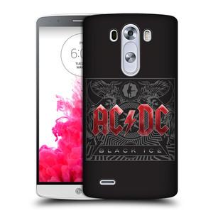 Plastové pouzdro na mobil LG G3 HEAD CASE AC/DC Black Ice