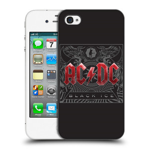 Plastové pouzdro na mobil Apple iPhone 4 a 4S HEAD CASE AC/DC Black Ice