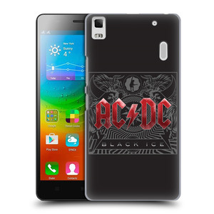 Plastové pouzdro na mobil Lenovo A7000 HEAD CASE AC/DC Black Ice