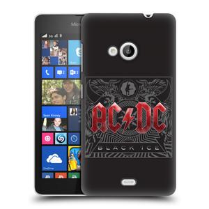 Plastové pouzdro na mobil Microsoft Lumia 535 HEAD CASE AC/DC Black Ice