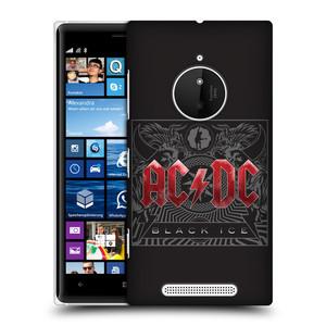 Plastové pouzdro na mobil Nokia Lumia 830 HEAD CASE AC/DC Black Ice
