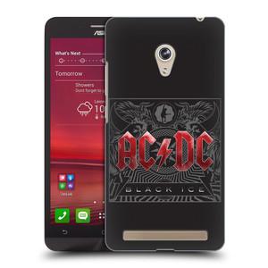 Plastové pouzdro na mobil Asus Zenfone 6 HEAD CASE AC/DC Black Ice