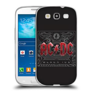 Silikonové pouzdro na mobil Samsung Galaxy S3 Neo HEAD CASE AC/DC Black Ice