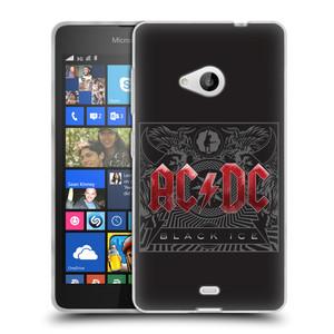 Silikonové pouzdro na mobil Microsoft Lumia 535 HEAD CASE AC/DC Black Ice