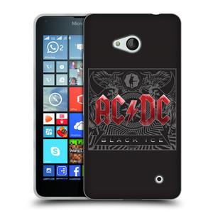 Silikonové pouzdro na mobil Microsoft Lumia 640 HEAD CASE AC/DC Black Ice