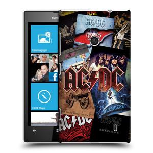 Plastové pouzdro na mobil Nokia Lumia 520 HEAD CASE AC/DC Koláž desek