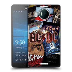Plastové pouzdro na mobil Microsoft Lumia 950 XL HEAD CASE AC/DC Koláž desek