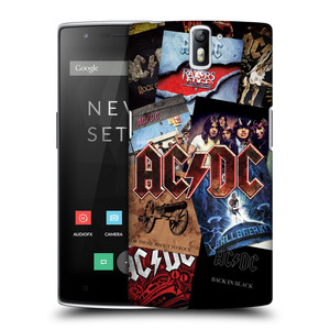 Plastové pouzdro na mobil OnePlus One HEAD CASE AC/DC Koláž desek