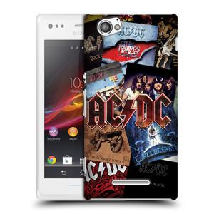 Plastové pouzdro na mobil Sony Xperia M C1905 HEAD CASE AC/DC Koláž desek