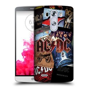 Plastové pouzdro na mobil LG G3 HEAD CASE AC/DC Koláž desek
