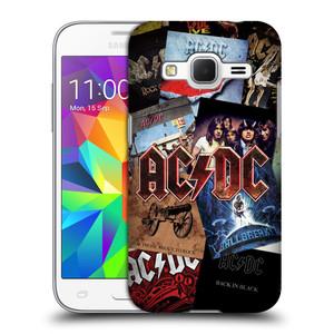 Plastové pouzdro na mobil Samsung Galaxy Core Prime LTE HEAD CASE AC/DC Koláž desek