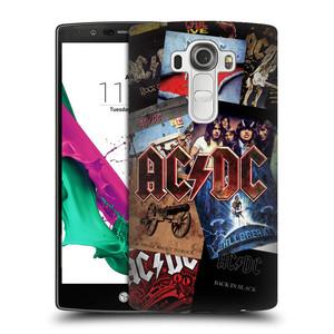 Plastové pouzdro na mobil LG G4 HEAD CASE AC/DC Koláž desek