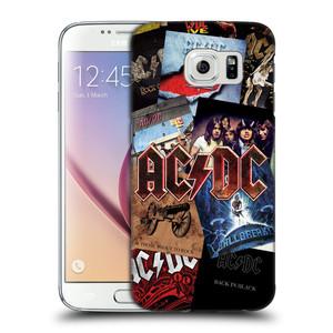 Plastové pouzdro na mobil Samsung Galaxy S6 HEAD CASE AC/DC Koláž desek