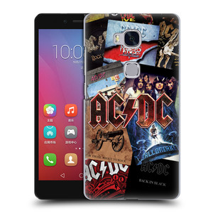 Plastové pouzdro na mobil Honor 5X HEAD CASE AC/DC Koláž desek