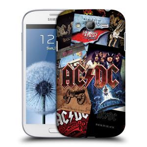 Plastové pouzdro na mobil Samsung Galaxy Grand Neo Plus HEAD CASE AC/DC Koláž desek