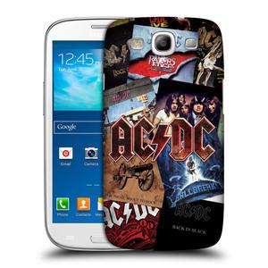 Plastové pouzdro na mobil Samsung Galaxy S III HEAD CASE AC/DC Koláž desek