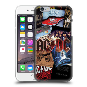 Plastové pouzdro na mobil Apple iPhone 6 HEAD CASE AC/DC Koláž desek