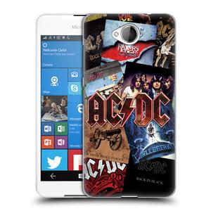 Plastové pouzdro na mobil Microsoft Lumia 650 HEAD CASE AC/DC Koláž desek