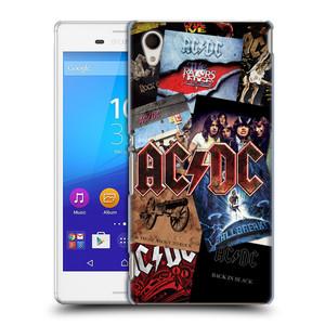 Plastové pouzdro na mobil Sony Xperia M4 Aqua E2303 HEAD CASE AC/DC Koláž desek