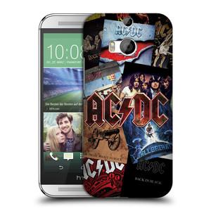Plastové pouzdro na mobil HTC ONE M8 HEAD CASE AC/DC Koláž desek