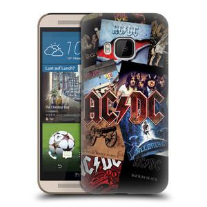 Plastové pouzdro na mobil HTC ONE M9 HEAD CASE AC/DC Koláž desek