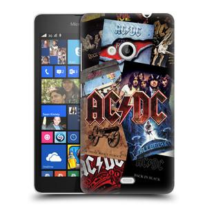 Plastové pouzdro na mobil Microsoft Lumia 535 HEAD CASE AC/DC Koláž desek
