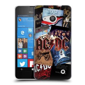 Plastové pouzdro na mobil Microsoft Lumia 550 HEAD CASE AC/DC Koláž desek