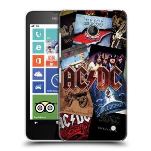 Plastové pouzdro na mobil Nokia Lumia 630 HEAD CASE AC/DC Koláž desek