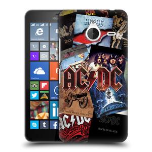 Plastové pouzdro na mobil Microsoft Lumia 640 XL HEAD CASE AC/DC Koláž desek