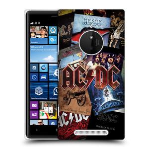 Plastové pouzdro na mobil Nokia Lumia 830 HEAD CASE AC/DC Koláž desek