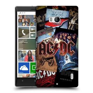 Plastové pouzdro na mobil Nokia Lumia 930 HEAD CASE AC/DC Koláž desek