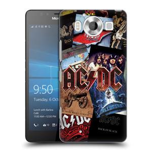 Plastové pouzdro na mobil Microsoft Lumia 950 HEAD CASE AC/DC Koláž desek