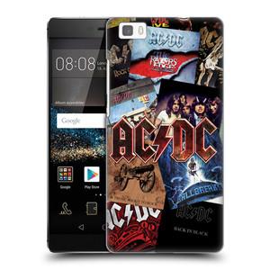 Plastové pouzdro na mobil Huawei P8 Lite HEAD CASE AC/DC Koláž desek